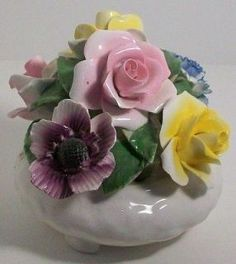 Genuine Porcelain China Made In Japan Code: 3635309245 Porcelain Ceramics, China Porcelain, Porcelain Doll, Antique China Dishes, China Dinnerware Sets, Ceramic Flowers, China Patterns, Collectible Figurines, Vintage Flowers