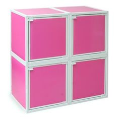 Modular Cube Pink Set Of 4, $72, now featured on Fab.