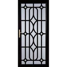 Larson Aluminum Security Door (Common: X Actual: X 394917052 Window Grill Design Modern, Front Door Design Wood, House Window Design, Wooden Main Door Design, Door Gate Design, Sliding Door Design, Door Design Interior, Steel Grill Design, Grill Gate Design