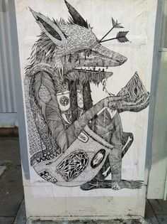 femme in floral: Found this around the corner from my house. At 24th and Filbert, in West Oakland. #wolf