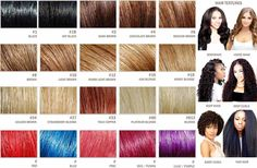 Hair extensions color chart