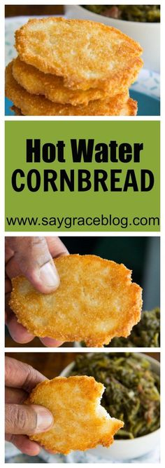 Cornbread Pan fried cornmeal mixed with shortening and boiling water make these hot water cornbread patties a delicious staple for all southern bites!Love Bites Love Bites may refer to: In film and television: In music: In other uses: Fried Cornbread, Cornbread Recipes, Hot Water Cornbread Recipe Soul Food, Hoe Cakes, Good Food, Yummy Food, Healthy Food, Comfort Food, Southern Recipes