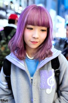 24 Best Purple Hair Images Japan Street Fashion Japanese Street