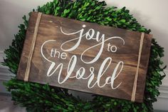 Rustic Joy to the World Sign Handmade by Simply Sarah http://bit.ly/2e80QdT
