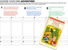 Write your own Choose Your Own Adventure story from E is for Explore!