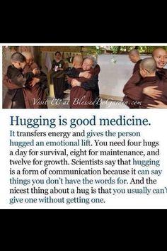 Hugging is good medicine.