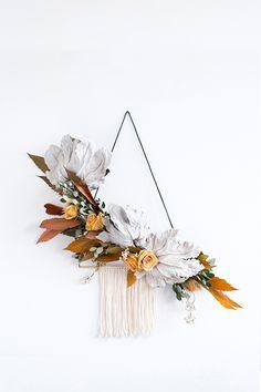 / diy asymmetrical wreath