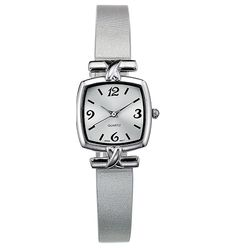 Metallic Strap Square-Faced Watch