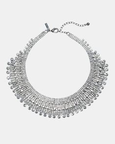 Women's Clear Stone Statement Necklace by WHBM