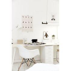 Schreibtischstuhl DAW Chair von Eames - Elegant White Chair