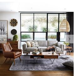 Shop the DAHLIA 3 Seat Leather Sofa in Oxford Tan. This is part of freedom's range of contemporary furniture & comes with a 10 year frame warranty. Mid-century Interior, Interior Design, Sofa Design, Lounge Design, Interior Styling, Living Room Sofa, Living Room Decor, Apartment Living, Living Area