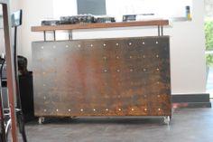 Desk metallo corten