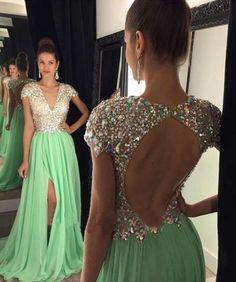 Open back prom dresses, cap sleeve prom dresses, long prom dresses, prom dresses 2016, long prom dresses,  271080