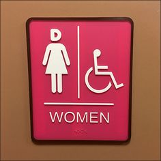"""These Dunkin' D for Donut Head Restroom Signs are perfect brand reinforcement for Dunkin Donuts. In fact Dunkin' Uses the stylized capital """"D"""" for many. Restroom Signs, Donuts, Retail, Humor, Frost Donuts, Cheer, Beignets, Toilet Signs, Shops"""