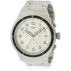 Swatch Minimalis Tic Chronograph Stainless Steel Men's Watch, YOS453G, Size: mm, Silver