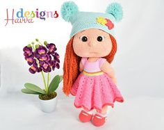 ❀❤ Welcome to Havva Designs Patterns Store ❤❀ ❥ This listing is for an downloadable pattern, not the finished toy. ❥ Downloadable pattern written in English (US terminology) ❥ This pattern includes body and all clothes and accessories. ❥ The finished approximately 32 cm tall. ❥ Pattern