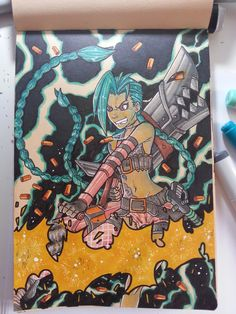 #jinx #fanart #commission #traditionalart #copicmarkers #leagueoflegends #LoL #videogames #steam #freetoplay