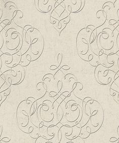 Hidden Richness (227332) - Galerie Wallpapers - A grand, all over stylized damask design with a metallic detailing. Shown here in beige with black outlining and metallic silver detailing. Other colourways are available. Please request a sample for a true colour match. Paste-the-wall product. Grey And White Wallpaper, Colorful Wallpaper, Galerie Wallpaper, Pattern Wallpaper, True Colors, Damask, Paint Colors, Colour Match, Bedroom Wallpaper