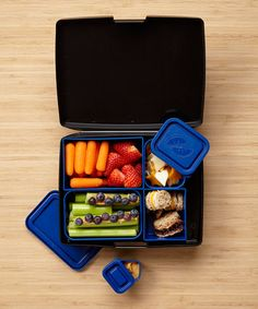 Love this Black & Blue Bento Box Set by Laptop Lunches Bento-ware on #zulily! #zulilyfinds
