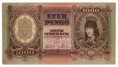 1000 Pengo from Hungary 1943 AU Bank Check, Notes Design, Old Photos, Vintage World Maps, Prints, Ebay, Report Cards, Stop It, Fotografia