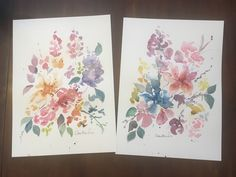 Floral Watercolor Set by Amber Baird