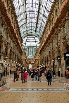 Arcade in Milan, Italy