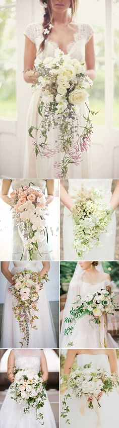 Gorgeous Cascade (Trailing) Bouquets — Praise Wedding
