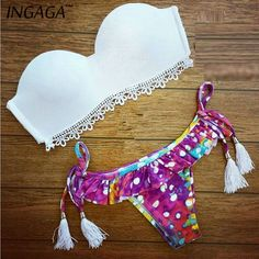 Brazilian Bikini Women Two Piece Swimwear 2015  Sexy Lace Designer Low Waist Bikinis Set Top Fashion Beach Biquini Brasileiro