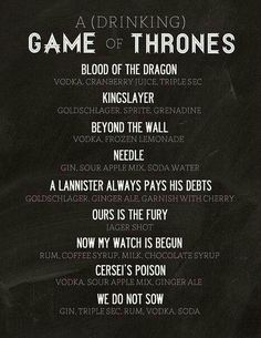 Drinking Game of Thrones