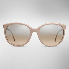 Cat-eye Burberry Spark Sunglasses in nude rose finished with contrast metallic nickel arms