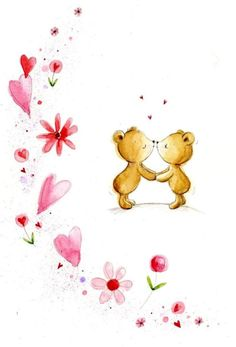 Leading Illustration & Publishing Agency based in London, New York & Marbella. Bear Illustration, Bear Valentines, Baby Girl Cards, Kids Cards, Pretty Pictures, Marie, Rooster, Snoopy, London
