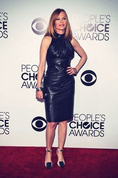 Marg Helgenberger attends The 40th Annual People's Choice Awards - Leather Celebrities