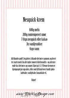 nesquick-krem oppskrift