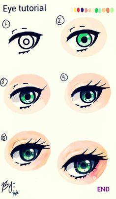 Eye tutorial by me  .v.