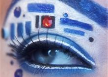 This is what the world is for. Finnish makeup whiz Karita Brun has the superpowers to distill superheros and science fiction characters into stunning eye makeup designs. Read this blog post by Amanda Kooser on Crave.