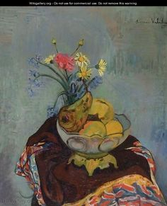 Still LIfe with Fruit Bowl Suzanne Valadon - 1920 Renoir, A4 Poster, Poster Prints, Théo Van Rysselberghe, Maurice Utrillo, Maurice Denis, Still Life Fruit, Post Impressionism, Paintings I Love