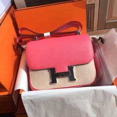 Hermes Fuchsia Constance Epsom leather 18cm Palladium Hardware - Bella Vita  Moda #hermes #hermesconstance 53b7b6a3617