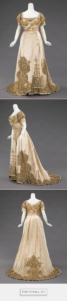 Ball gown by House of Worth 1896-1900 French | The Metropolitan Museum of Art - created via http://pinthemall.net