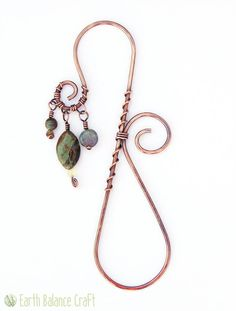 Hey, I found this really awesome Etsy listing at https://www.etsy.com/listing/209957058/bookmark-forest-copper-bookmark-beaded