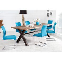 Vrijdragende zweefstoel suave petrol - 22413