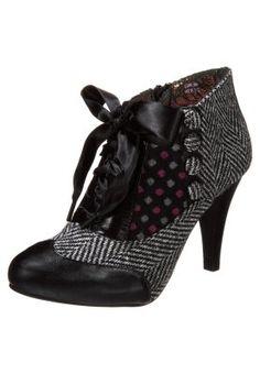 BETSEY'S BUTTON - Zapatos altos - grey/black