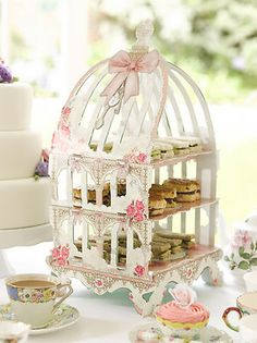Patisserie Cake Stand - 3 Tier Birdcage Cake Stand Wedding Afternoon Tea Party