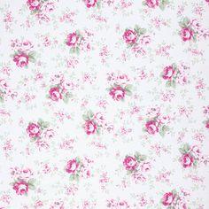 Slipper Rose - White Washed Rose by Tanya Whelan for Freespirit Fabrics