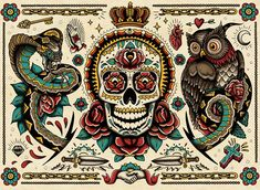 Colouring book celebrates the art of the tattoo.