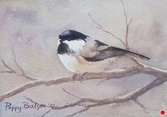 Chickie by Poppy Balser Watercolor ~ 5 x 7