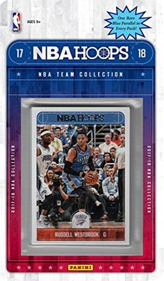 Oklahoma City Thunder 2017 2018 Hoops Basketball NBA Licensed Factory Sealed 8 Card Team Set with Russell Westbrook, Carmelo Anthony, Paul George plus  https://allstarsportsfan.com/product/oklahoma-city-thunder-2017-2018-hoops-basketball-nba-licensed-factory-sealed-8-card-team-set-with-russell-westbrook-carmelo-anthony-paul-george-plus/  This is a brand new 2017 / 2018 Oklahoma City Thunder Hoops Basketball Factory Sealed NBA Licensed 8 Card Team Set with Carmelo Anthony, Pau