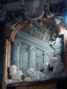 Gianlorenzo Bernini ST. TERESA OF AVILA IN ECTASY 1645-1652. Cornaro chapel, church of Santa Maria della Vittoria, Rome.  St. Teresa of Ávila was canonized 20 years earlier. This image displays the right side balcony- portrait sculptures of the the Cornaro family.