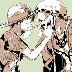 Disguises - Trafalgar D. Water Law and Monkey D. Luffy One Piece