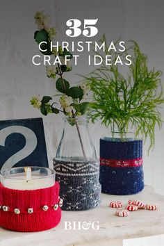 Spruce up your holiday home decor with these clever DIY Christmas decorations. Including DIY Christmas ornaments, creative DIY Holiday wreaths, cozy handmade pillows, and festive Holiday garlands, these oh-how-pretty holiday crafts will make your home merry and bright. #christmascrafts #diychristmasdecor #christmasdecorideas #diy #holidaycrafts #bhg Festive Crafts, Handmade Christmas Decorations, Diy Christmas Ornaments, Christmas Holidays, Holiday Festival, Clever Diy, Merry And Bright, Holiday Wreaths, Handmade Pillows