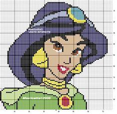 Disney Princess Jasmine perler bead pattern by Mauricette